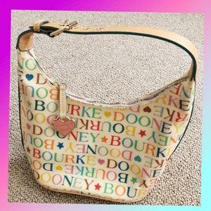 Dooney and Bourke cream and multicolor purse